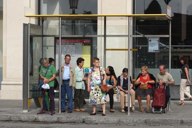 Nueva jornada de paros en los buses de Barcelona
