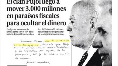 El clan Pujol va arribar a moure 3.000 milions d'euros en refugis fiscals, titula 'La Razón'