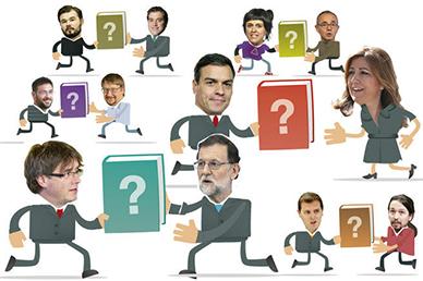 ¿Qué libro regalaría Puigdemont a Rajoy? ¿Y Pedro Sánchez a Susana Díaz?
