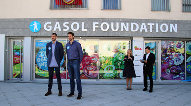Els germans Gasol fan de Sant Boi una seu mundial de la lluita contra l'obesitat infantil