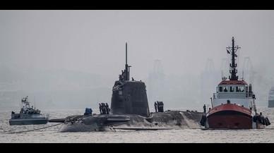 Un submarí nuclear britànic xoca amb un vaixell mercant a Gibraltar