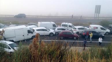Almenys un mort en un accident múltiple amb 45 cotxes implicats a Càceres