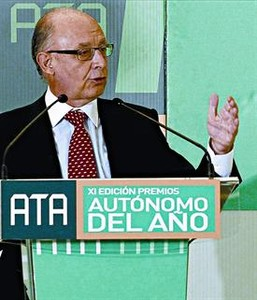 Montoro, en el acto de la Asociacin de Trabajadores Autnomos.