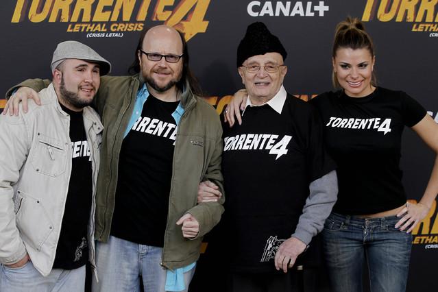 Santiago Segura, Kiko Rivera, Tony Leblanc y Maria Lapiedra.