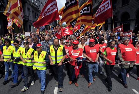 La manifestación del Primero de Mayo, en Barcelona.