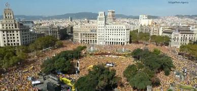 'Timelapse' del acto de 'Ara �s l'hora' en la plaza de Catalunya