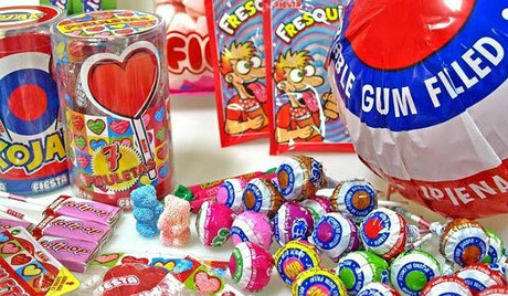 Lote de caramelos de la empresa Fiesta.