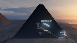 Reconstrucción en 3D del interior de la pirámide de Keops.