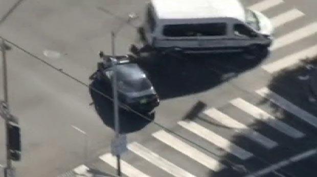 Persecución de película por las calles de Los Ángeles