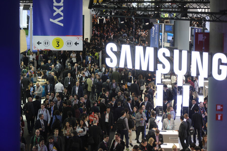 Ambiente en el Mobile World Congress.