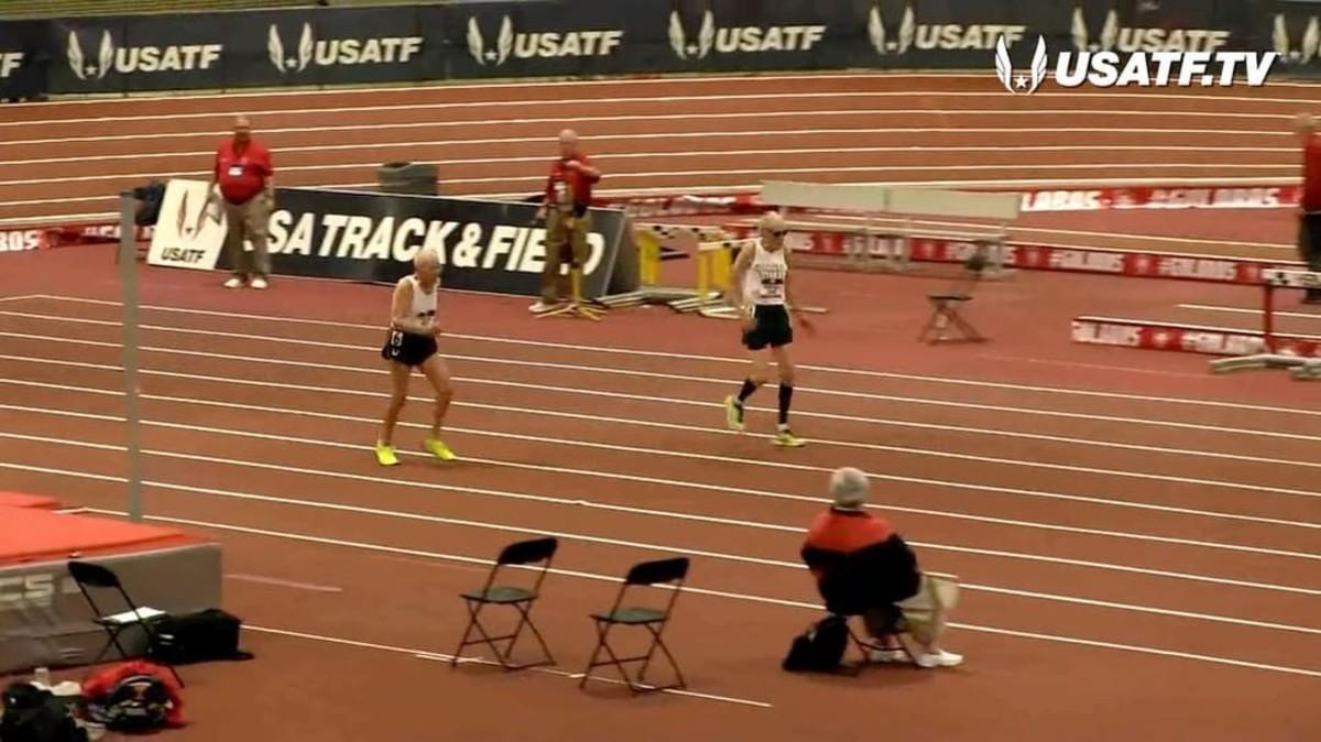 La carrera entre los dos veteranos atletas