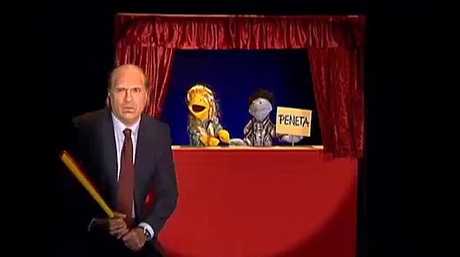 Gag del programa 'Pol�nia' en el que unas marionetas son detenidas por enaltecer el terrorismo en el espect�culo.
