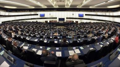 Vista del sal�n de plenos del Parlamento Europeo.