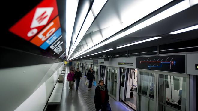 Estaci�n de metro de la L9 de la Sagrera.