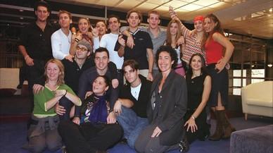 Los concursantes y parte del equipo de la primera edici�n de'Operaci�n Triunfo'.