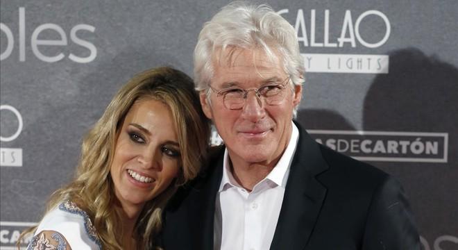 Richard Gere i la seva nòvia espanyola, Alejandra Silva, posen junts per primera vegada