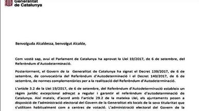 Puigdemont i Junqueras donen als alcaldes 48 hores per confirmar els col·legis electorals