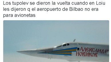 La incursió de dos bombarders russos sobre Bilbao provoca acudits a Twitter