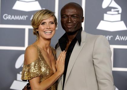 Heidi Klum y Seal durante la gala de los Grammy en Los Ángeles.