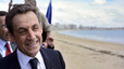 Sarkozy, ayer, en un acto de campaa en Les Sables-d'Olonne.