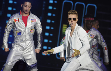 Justin Bieber, en el concierto de Madrid del jueves.
