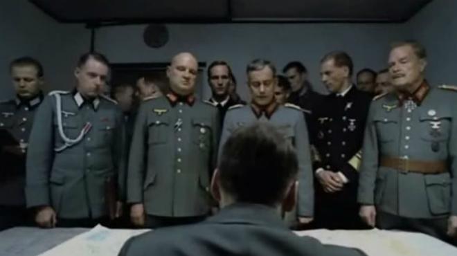 La escena original de El Hundimiento parodiada en Polònia
