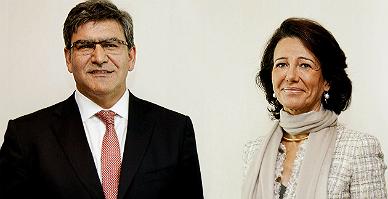 La presidenta del Banco Santander, Ana Bot�n, y el n�meros dos, Jos� Antonio �lvarez.