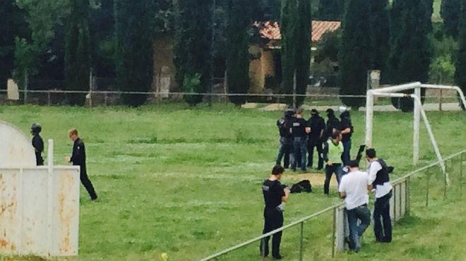 Un hombre dispara contra los Mossos en una inspecci�n de un cultivo de marihuana.
