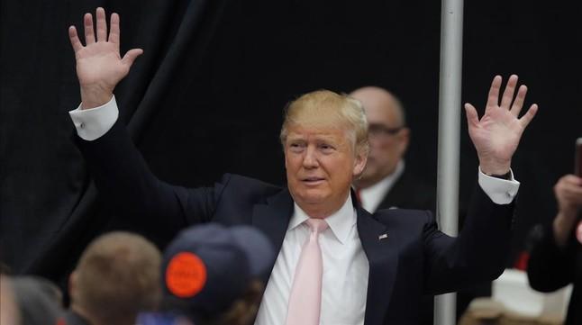Donald Trump en Radford (Virginia), este lunes.