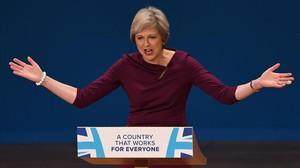 jsauri35799806 british prime minister theresa may gestures as she delivers 161005212840