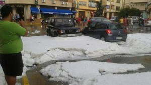 Granizada en Teruel