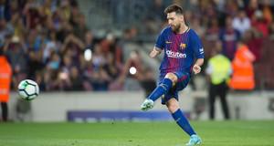 Leo Messi dispara a puerta en uno de los últimos partidos del Barça