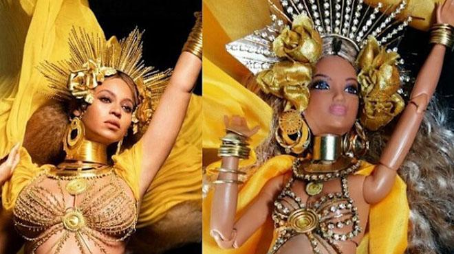 Homenaje a Beyoncé con una barbie embarazada