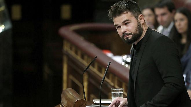 Duro discurso de Gabriel Rufián contra el PSOE en la investidura de Rajoy.