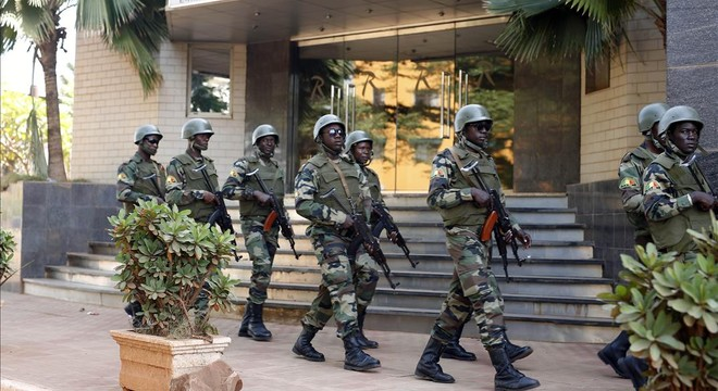 Guardia presidencial de Mali.