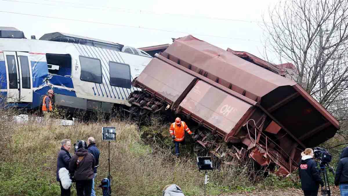 Al menos 45 heridos en un choque de trenes en Alemania