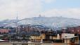 El Tibidabo nevado esta mañana.