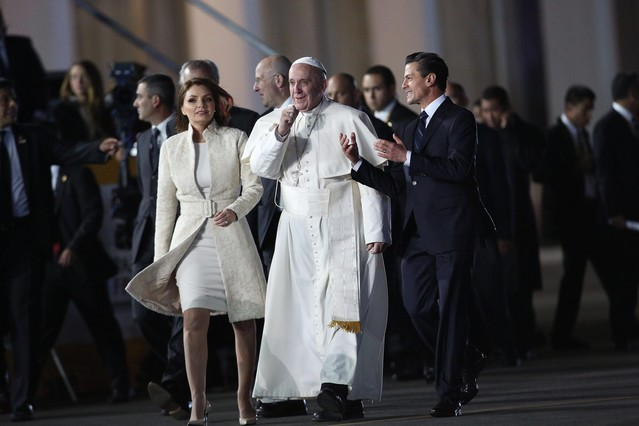 El Papa Francisco clama en M�xico contra la corrupci�n y el narcotr�fico