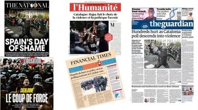 La prensa internacional destaca la represión policial en el referéndum