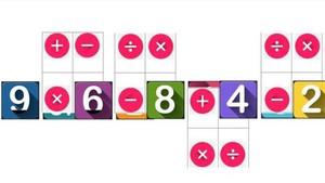 Ejemplo de una ronda del nuevo juego 'Más o menos'. Se tienen que combinar fórmulas matemáticas para que el resultado se acerquelo máximo a un número elegido al azar. En este caso, 48.