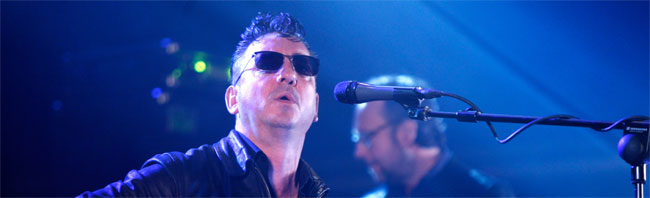 Richard Hawley, en su actuacin en el Arc de Triomf.