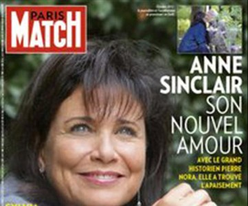 Anne Sinclair protagoniza la portada de 'Paris Match'.