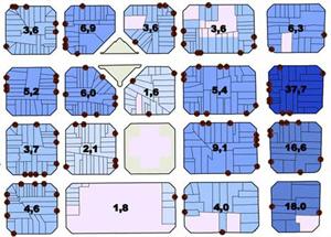 Mapa de todos los pisos tur�ticos legales de Barcelona