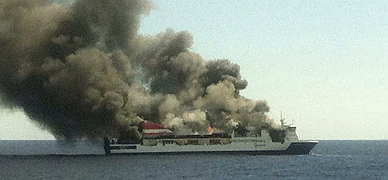 Evacuado en alta mar un ferry que cubr�a la ruta Palma-Valencia