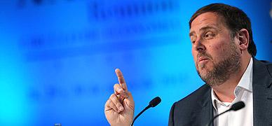 Oriol Junqueras, en las Jornadas del Cercle d'Economia de Sitges, este s�bado