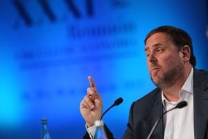 Oriol Junqueras, durant una conferència al Cercle dEconomia, a Sitges, el 30 de maig.