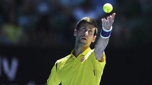 Djokovic durante partido ante Hyeon Chung