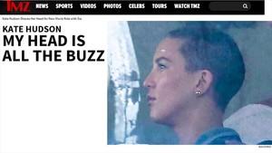 Captura de pantalla del portal TMZ con la imagen de Kate Hudson.