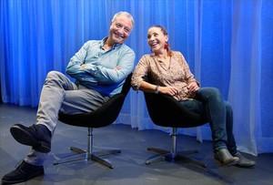 Emma Vilarasau y Jordi Bosch, fotografiados la semana pasada en el Teatre Condal.