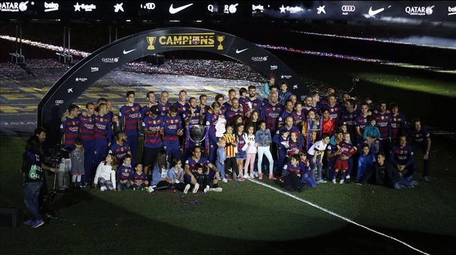 Festa al Camp Nou sense Messi ni Suárez